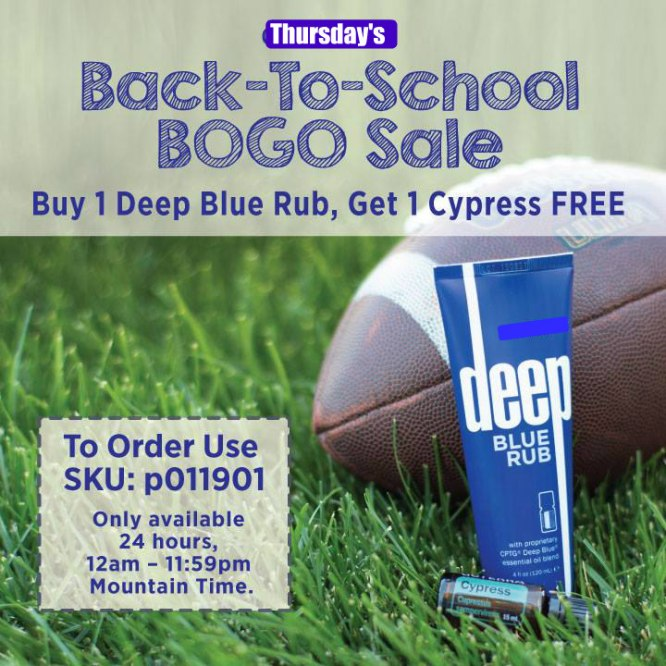 Back To School BOGO Thursday