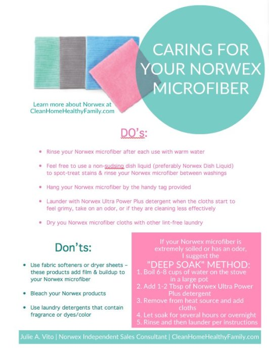 Caring for your microfiber